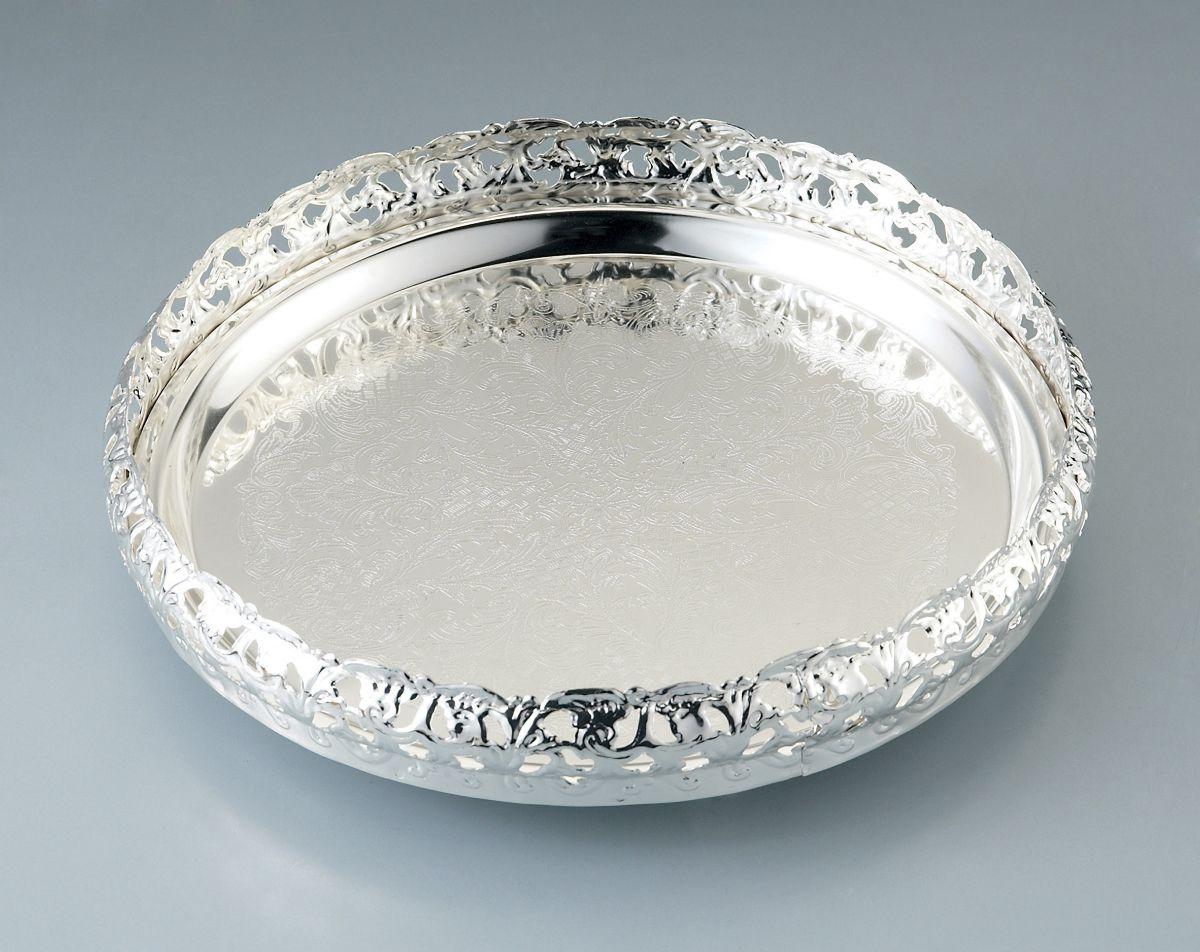 Stylish Silver Tray for Whiskey Decanter